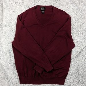 Jos. A. Bank - Size XL - V-Neck Sweater Maroon
